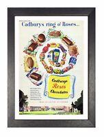 Cadbury Roses 2 Poster Classic Vintage Retro Print Chocolate Sweet Advert Photo