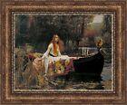 "John William Waterhouse The Lady of Shalott Framed Canvas 33.5""x27"" (V01-17)"