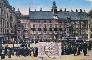 Austria Century Old Postcard 1922 Wien Freiheitsplatz mit Votivkirche used