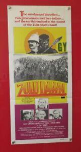ZULU DAWN ORIGINAL 1979 CINEMA DAYBILL FILM MOVIE POSTER Burt Lancaster 70's