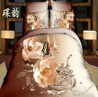 3D Cotton Floral Printed Bedding Set 4 Piecs Duvet Cover Pillow Case Sheet New