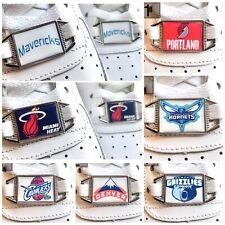 ✅Neue Nike Air Force 1 NBA Basketball Schuh Schnallen Buckles Lace Locks 2 Stück