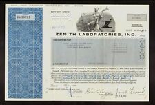Zenith Laboratories Inc Northvale NJ ( Biotech / Pharmaceutical Products )