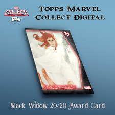 Black Widow 20/20 rare Award (cc#598) - Topps Marvel Collect Digital