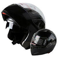 HOT! DOT Carbon Fiber Modular Flip Up Dual Visor Full Face Motorcycle Helmet USA