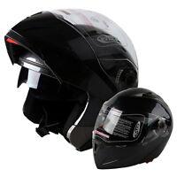 HOT! DOT Carbon Fiber Modular Flip Up Dual Visor Full Face Motorcycle Helmet USA