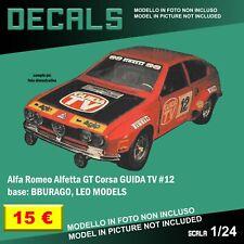 Decals Repro Alfa Romeo Alfetta GT TV Guide Kit BBURAGO Burago Leo M. 1 24 decal