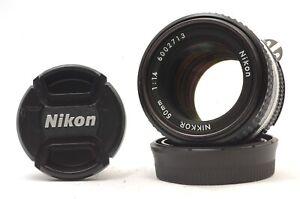 @ Ship in 24 Hours @ Excellent! @ Nikon Ai-s Nikkor 50mm f1.4 Prime Fast MF Lens