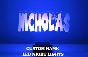 Name Light Up Night Light Lamp - 16 Color LED w/ Remote - Super Mario Gift LED