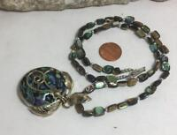 """Gorgeous Abalone shell beads/pendant necklace/20""""(w320e-w1)"""