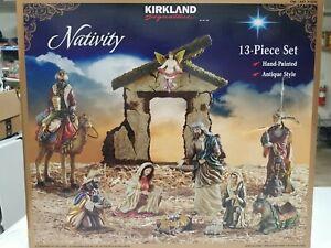2014 Kirkland Signature Creche De Noel 13 Piece Nativity Set Large Pieces NEW