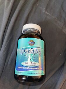 Garden of Life Oceans 3 Better Brain with OmegaXanthin 90 Softgels exp 07/21