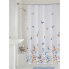 """New Mainstays Butterfly Semi-Sheer Fabric Shower Curtain, 70"""" x 72"""""""