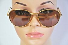 9368fb189da5 Vintage Cartier 18K Gold Plated Sapphire Sunglasses 57-18