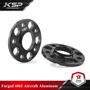 2X 12MM HUBCENTRIC BLACK WHEEL SPACERS ¦ 5X112 ¦ 66.56 CB ¦ 14X1.5 Fits MERCEDES