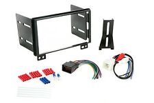 SCOSCHE FD1428B STEREO RADIO DASH KIT DOUBLE DIN WIRE HARNESS FACTORY AMPLIFIED