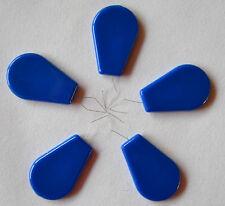 5 Nadeleinfädler Einfädler mit Kst.-Griff blau
