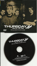 THURSDAY War all the time w/ VIDEO & BEHIND THE SCENES FOOTAGE PROMO DVD Single