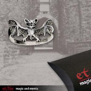 Silber Ring Echt Et Nox Silberring Gothic Metal 925er Silber Fledermaus NEU!
