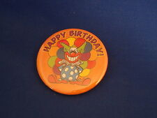 """""""Happy Birthday!"""" Lot of 5 Buttons pins Clown pinbacks badge Party Loot Bags"""