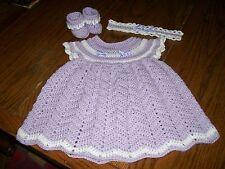 Handmade Crochet Baby Dress Set