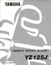 1982 Yamaha YZ125J Motorcycle Service Manual : LIT-11626-03-16