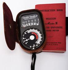 Camera Light Meter Vintage Weston Master II Universal Exposure Model 735 w/Case