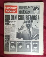 Melody Maker 25 Dec 1965 - BRIAN EPSTEIN pop think in, Kinks, Rolling Stones