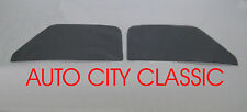 1953-55 Ford Pickup Truck Grey Door Glass Vent Delete F100 LH RH Curved Set