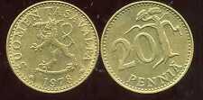 FINLANDE 20 pennia 1978