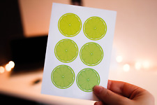 Set of 50 A6 illustrated lime postcards