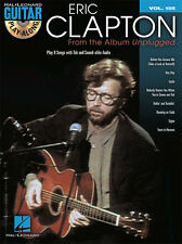 Eric Clapton From The Album Unplugged Guitar Play Along 8 Songs Tab Book Cd NEW!