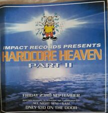 hardcore heaven rave flyer from the thythm station Aldershot 23.10.1994.