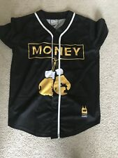 Baseball Jersey Black Yellow Size L