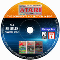 New Atari User Magazine The Complete Collection In PDF All 85 Issues On DVD Disc