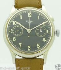 Heuer mono-pulsador-chronograph acero military procedentes de los años 1930/40er raras