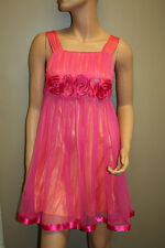 Prom Cocktail Dress with Roses, Pink, Size: XS