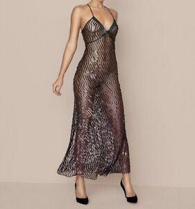 Agent Provocateur Pascale Long Dress/ Teal/ Size- UK10/ (Box - 20)