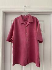 "TOMMY BAHAMA SIZE L 100% Silk Shirt  (Pit To Pit 24"")"