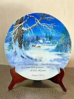 Vintage Christmas 1973 Winter Scene by ROBERT LAESSIG Porcelain Plate