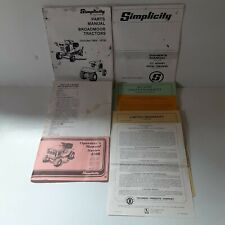 Simplicity Garden Lawn Tractor Snowblower Owner Manual