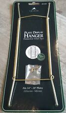 "Plate Hanger BRASS 14""- 20"" Wire Display Easel Tripar (23-1311)"