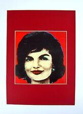 Nachlass alter Pop Art Druck hinter Passepartout Jackie Kennedy 80er 36x26cm 115