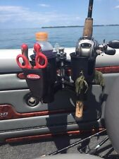 * ROBOCUP * (BLACK) CADDY CUP DRINK BOAT FISHING POLE ROD HOLDER CASE STORAGE!!!