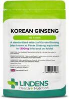 Koreanischer Ginseng (Panax ) 1300mg Energie Boost- (100 Tabletten) UK