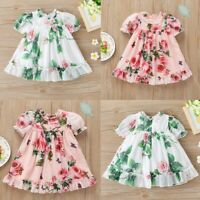 Toddler Baby Girls Floral Dress Birthday Party Princess Clothes Infant Holiday