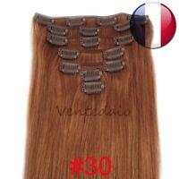 EXTENSIONS DE CHEVEUX A CLIPS 100% NATURELS REMY HAIR 53CM ROUX #30
