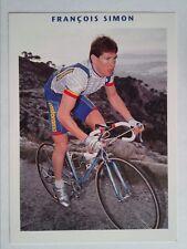 CARD CYCLING NEW TEAM TEAM CASTORAMA FRANÇOIS SIMON