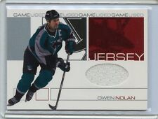 2001-02 IN THE GAME BE A PLAYER UPDATE OWEN NOLAN GAME WORN JERSEY