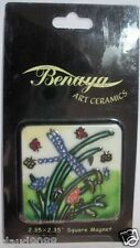 "BENAYA ART CERAMICS   ""DRAGONFLY SQUARE MAGNET"" SQDRAG  MINT IN SLEEVE"